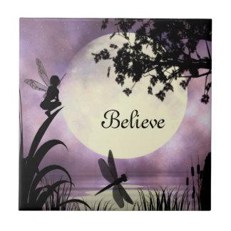 Fairies I Believe Ceramic Tile