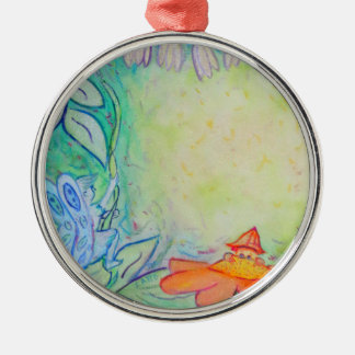 Fairies in the Garden Art Custom Ornament