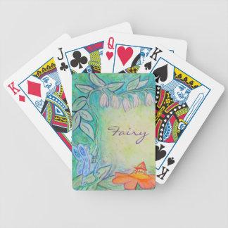 Fairies in the Garden Art Custom Playing Cards