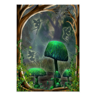 fairies in the wood poster