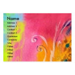 FAIRIES OF DAWN / MAGIC SPARKLES IN FUCHSIA GOLD PACK OF CHUBBY BUSINESS CARDS