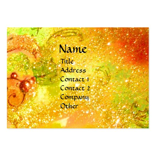 FAIRIES OF DAWN / MAGIC SPARKLES IN GOLD YELLOW BUSINESS CARD TEMPLATE