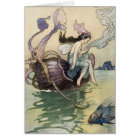 Fairies on the Seashore Card by Warwick Goble