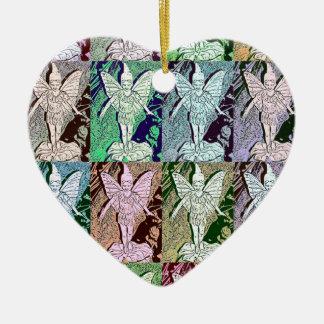 Fairies Pop Art Design Ceramic Heart Decoration