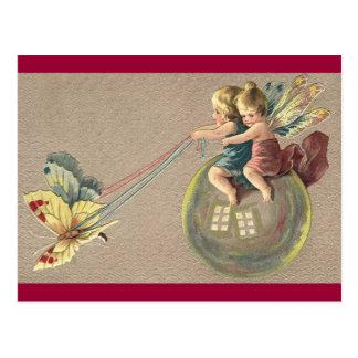 Fairies Riding a Bubble Postcard