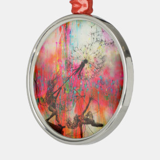 Fairies Spreading Daisy Seeds Christmas Ornament