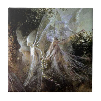 Fairies Watching At Forest Edge Tile