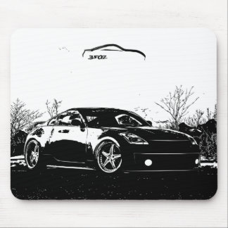 Fairlady 350Z with Black Brush Stroke Mouse Mat