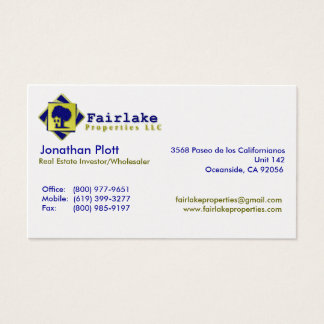 Fairlake Properties: Professional Business Card