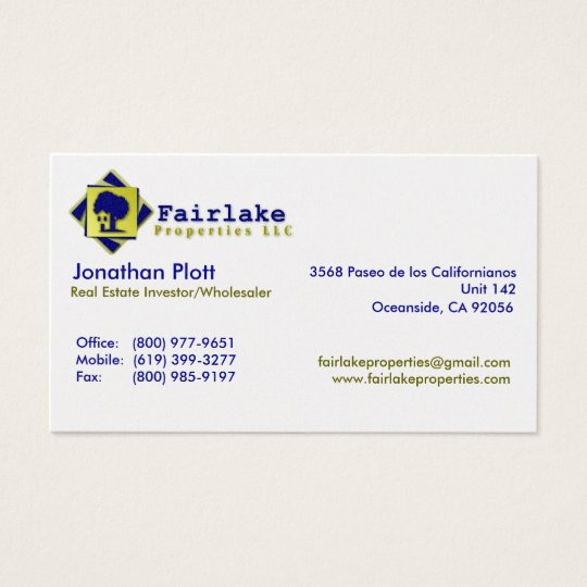 Fairlake Properties: Professional Business Card