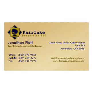 Fairlake Properties: Professional Business Card Template