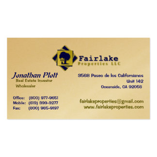 Fairlake Properties: Professional Business Card Templates