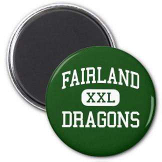 Fairland - Dragons - High - Proctorville Ohio 6 Cm Round Magnet