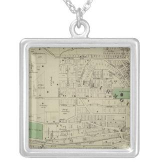 Fairmount, Mt Harrison, Ohio Square Pendant Necklace