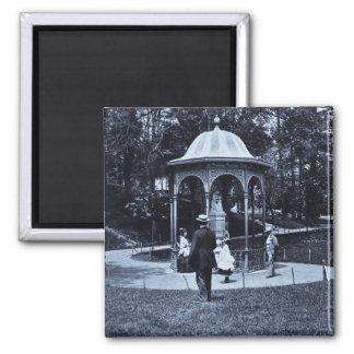 Fairmount Park Vintage Philly ca. 1900-1910 Square Magnet