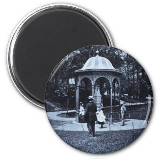 Fairmount Park Vintage Philly ca. 1900-1910 6 Cm Round Magnet