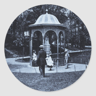 Fairmount Park Vintage Philly ca. 1900-1910 Classic Round Sticker