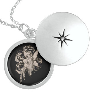 Fairy 3 sepia sterling silver necklace
