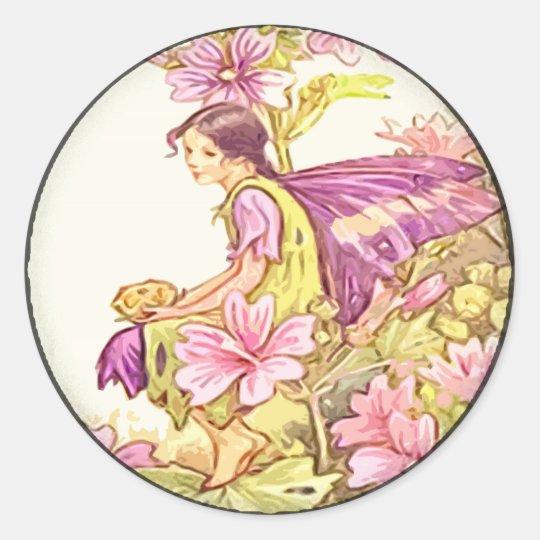 Fairy 8 classic round sticker