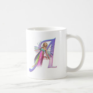 Fairy Alphabet - letter A Basic White Mug