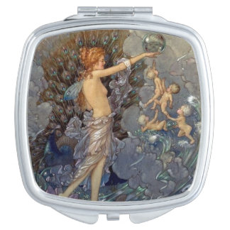 Fairy and Babies Play with Bubbles, Makeup Mirrors