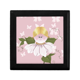Fairy and Butterflies Small Square Gift Box