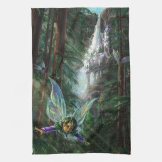Fairy and Castles Fantasy Art Tea Towel