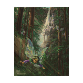 Fairy and Castles Wood Wall Art