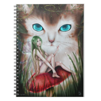 Fairy and cat spiral notebooks