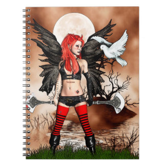 Fairy and Doves Spiral Notebook