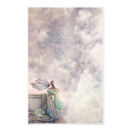 Fairy and Dragon Fantasy Art Stationary Personalised Stationery