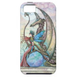 Fairy and Dragon Fantasy Art Tough iPhone Case iPhone 5 Cases
