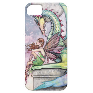 Fairy and Dragon Gothic Fantasy Art Barely There iPhone 5 Case