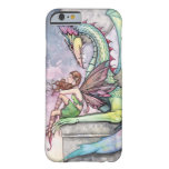 Fairy and Dragon Gothic Fantasy Art Barely There iPhone 6 Case