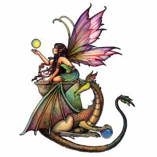 Fairy and Dragon Photo Sculpture Ornament