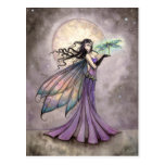 Fairy and Dragonfly Mystical Fantasy Art Postcard