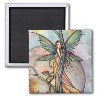 Fairy and Fairy Cat Magnet by Molly Harrison