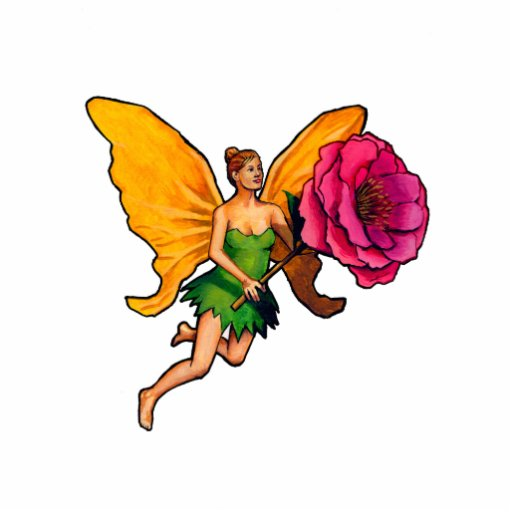 Fairy and flower photo cutouts