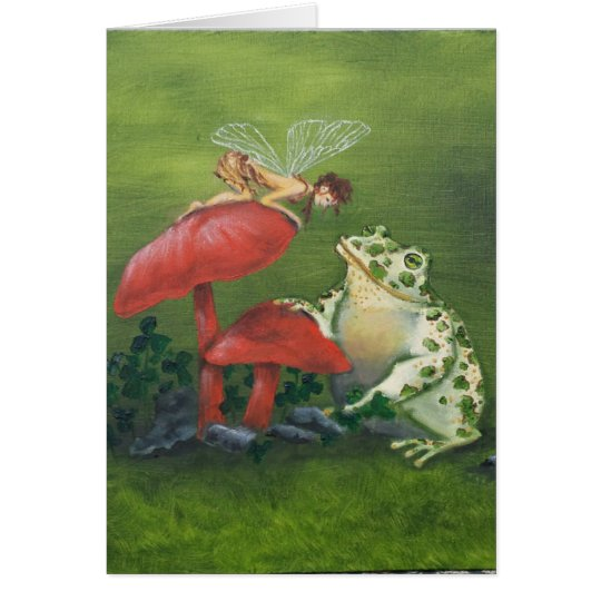 """Fairy and Frog"" greeting card"