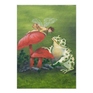 """Fairy and Frog"" Invitations"