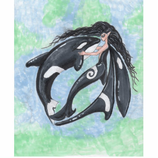 Fairy and Orca Standing Photo Sculpture