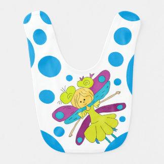 Fairy and Polka Dots Baby Bibs