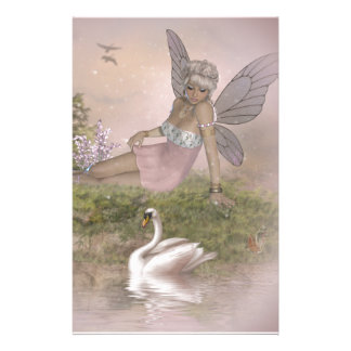 Fairy and Swan Stationery Paper