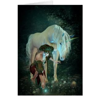 Fairy and Unicorn Magic Note Card