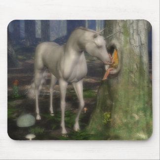 Fairy and unicorn. mouse mat