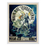 Fairy and Vintage Bicycle Poster
