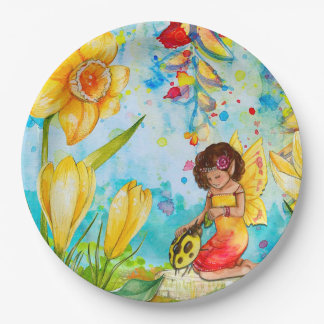 Fairy and Yellow Ladybug Birthday Party Plates