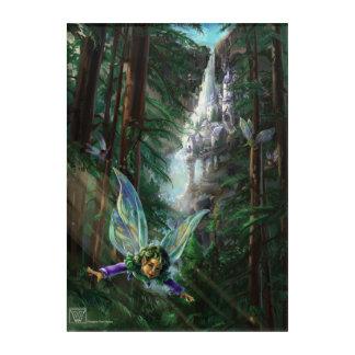 Fairy and Yosemite Falls Castle Acrylic Print