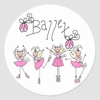 Fairy Angel Ballet Classic Round Sticker