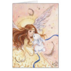 """Fairy Angel & Bunny"" Card"